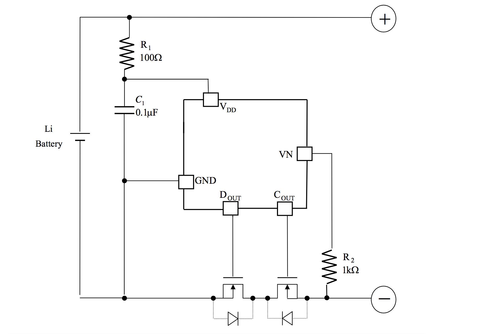 Схема на ААТ8660 для защиты литиевого аккумулятора