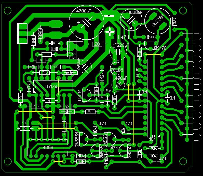 Печатная плата Клон ПИ-В для микросхемы 4066