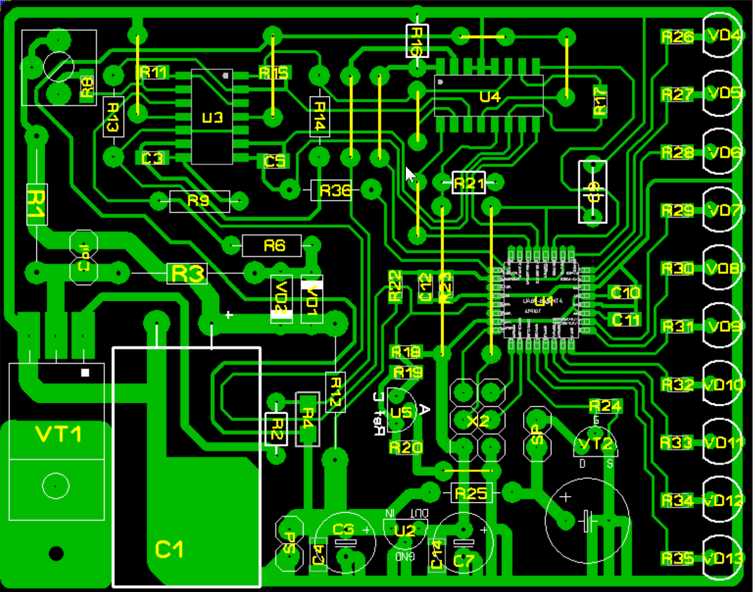 SMD-версия печатной платы Clone PI-W