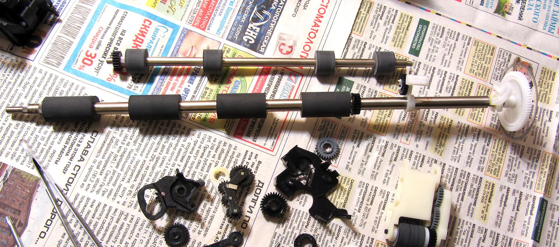 Валы от принтера для самодельной шаровой мельницы