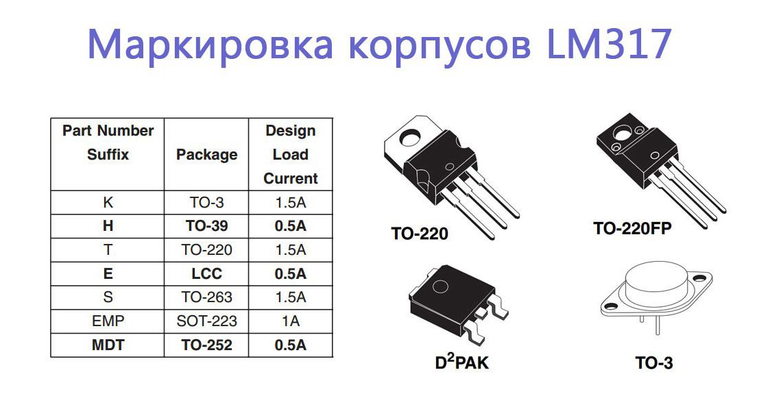 Разновидности lm317