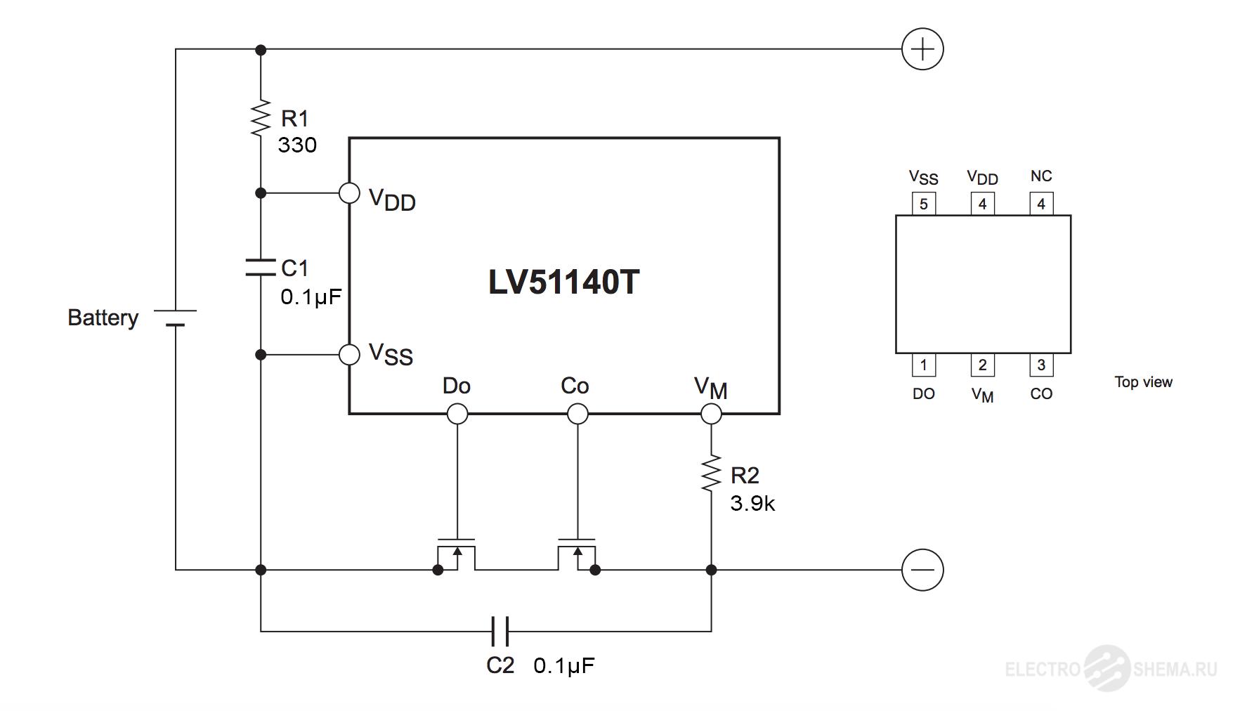 Плата PCB для защиты li-ion от глубокого разряда