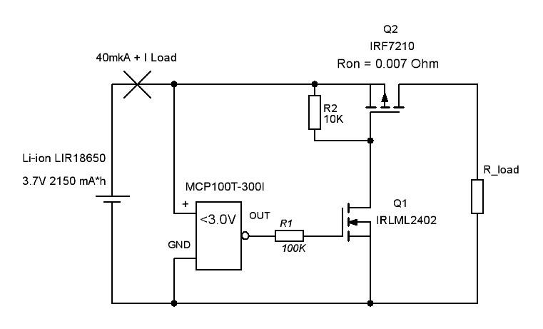 Схема защита аккумулятора от перезаряда