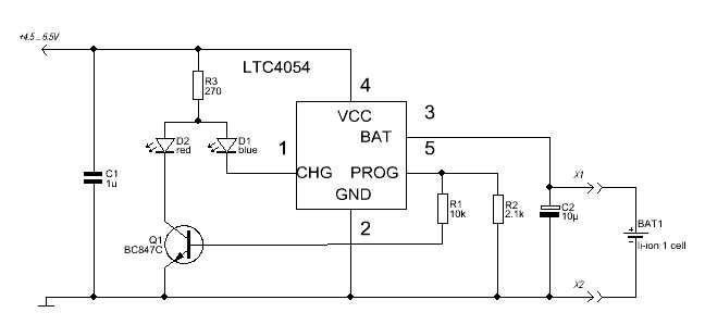 Зарядка на ltc4054