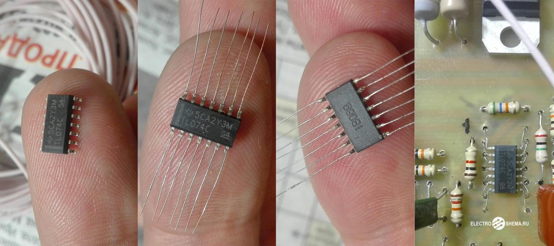 Как впаять микросхему в SMD корпусе вместо DIP