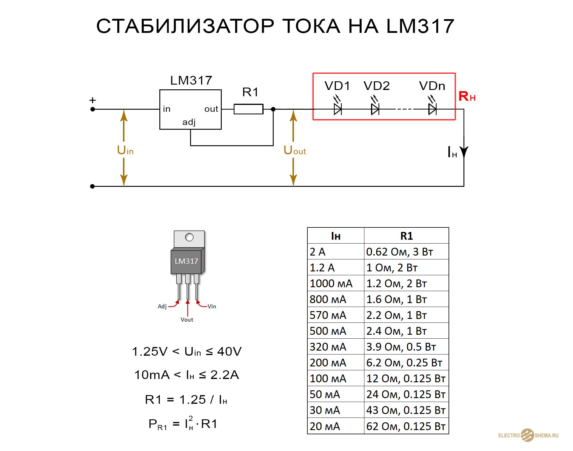 Схема стабилизатора напряжения 12 вольт для авто