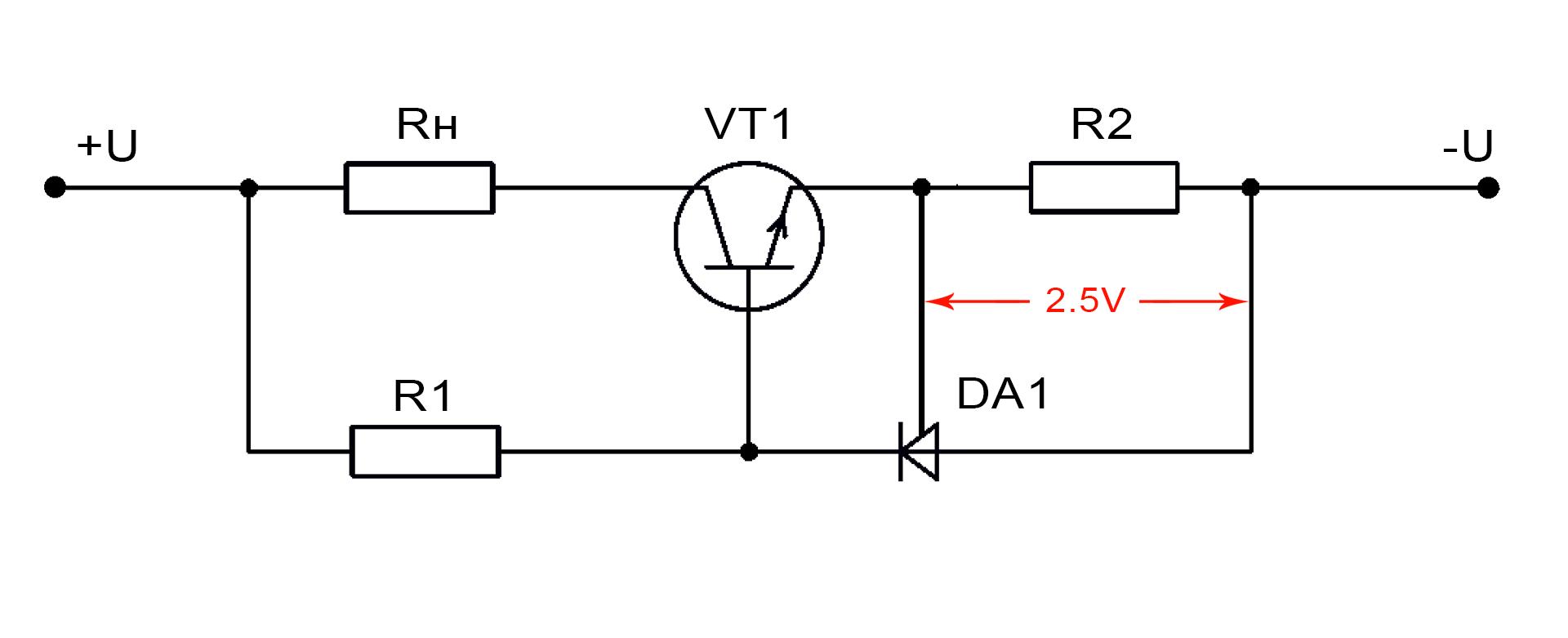 Схема включения TL431 в качестве стабилизатора тока